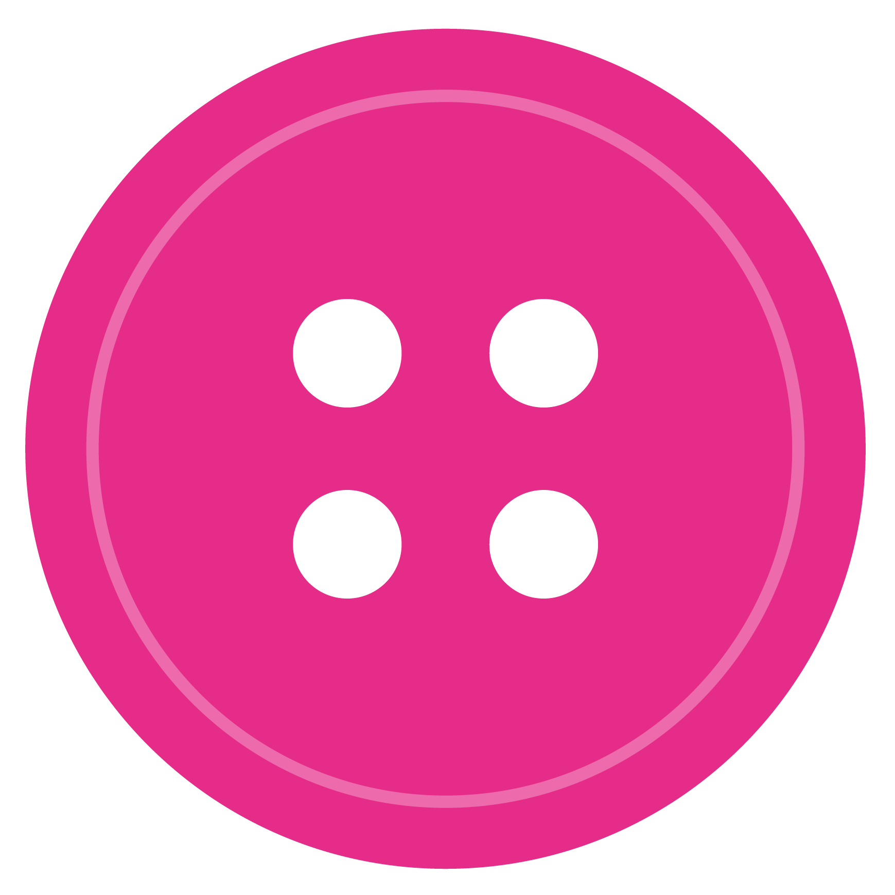 Cartoon drawing of a pink button.