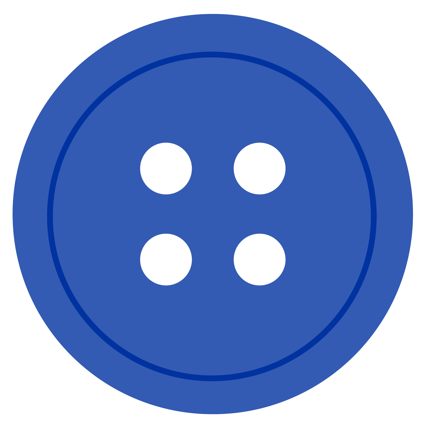 Cartoon drawing of a blue button.