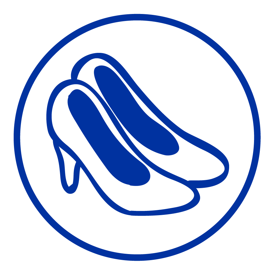 Cartoon image of a pair of shoes.